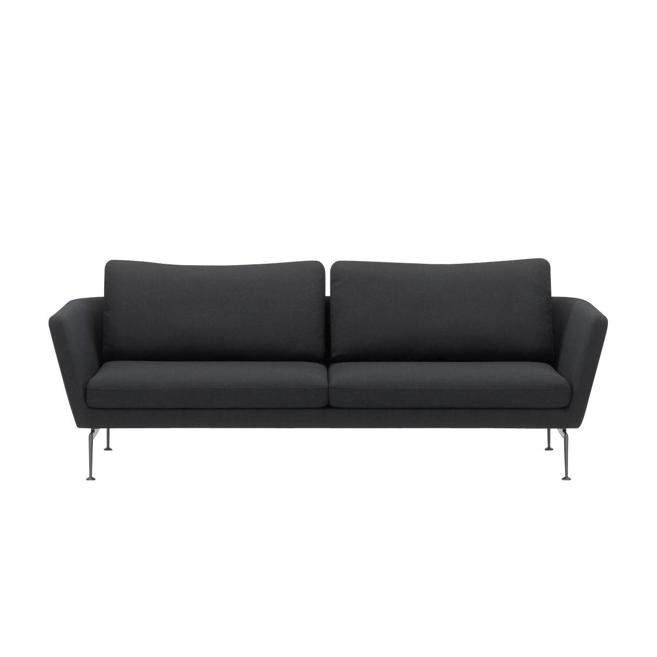 Vitra   Suita Citterio 3 Seater Sofa   Black/frame Aluminium/fabric Laser  Black