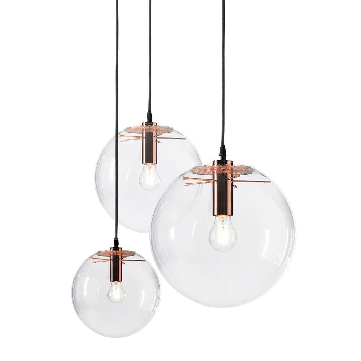 Selene suspension lamp copper classicon suspension for Suspension 4 lampes