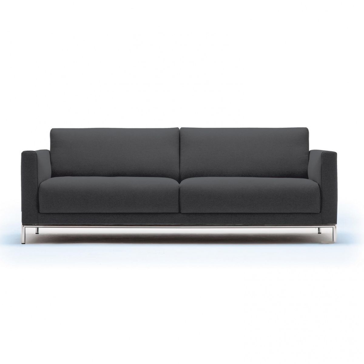 Ledersofa schwarz rolf benz  freistil 141 3-Seater Sofa Frame Chrome | freistil Rolf Benz ...