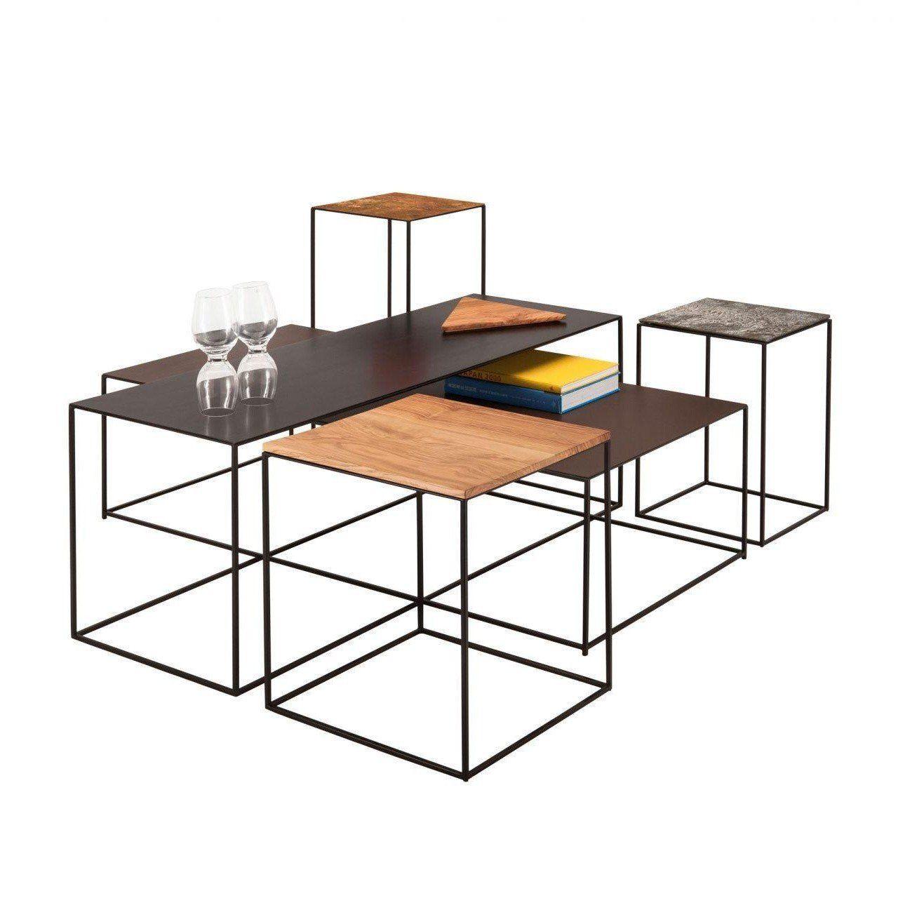 slim irony art side table 41x41x64cm zeus. Black Bedroom Furniture Sets. Home Design Ideas