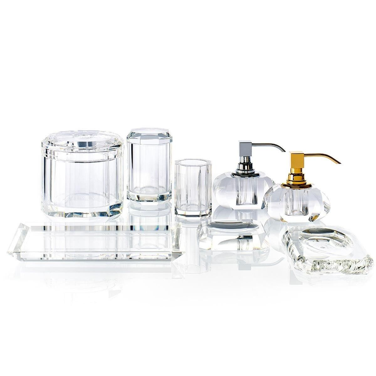 ... Bathroom Accessories Set Soap · Kr Ssp Kristall Soap Dispenser Decor  Walther Ambientedirect Com