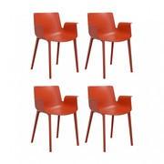 Kartell - Piuma - Lot de 4 fauteuils avec accoudoirs