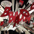 Ingo Maurer - Comic Explosion Pendellampe/Lichtobjekt - schwarz-weiß-rot/limitierte Herstellung