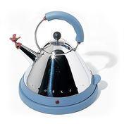 Alessi - Elektrischer Wasserkocher  - blau/Edelstahl