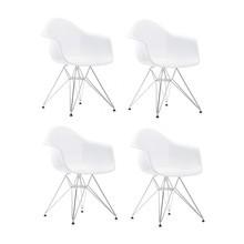 Vitra - Set de 4 chaises avec accoudoirs Eames DAR