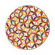 Nanimarquina - Kala Teppich - multicolour/Neuseeland-Wolle/Ø 200cm