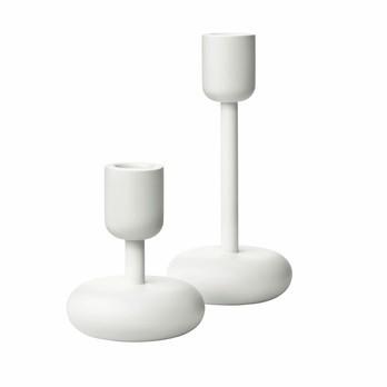 iittala - Nappula Kerzenständer 2er Set  - weiß/H: 1x 10,7cm / 1x 18,3cm/Handwäsche