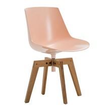 MDF Italia - Flow Chair With Oaken Legs