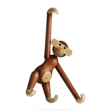 Kay Bojesen Denmark - Wooden Figurine Monkey Small Teak