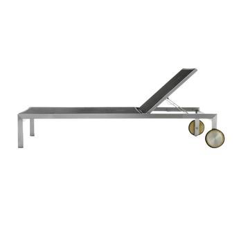 Jan Kurtz - Luxury Sonnenliege - schwarz/Bezug Batyline/LxBxH 207x73x34cm/Gestell Edelstahl