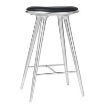 Mater - High Stool Aluminium Base H 74cm
