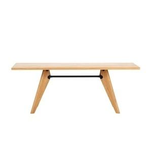 Vitra - Table Solvay Prouvé Tisch 200x90cm - eiche natur/Traverse tiefschwarz
