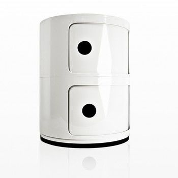 Kartell - Componibili 2 Container - weiß/glänzend