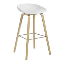 HAY - About a Stool AAS 32 Bar Stool High Matt Lacquered Oak Base
