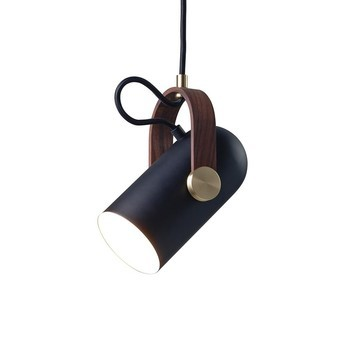 Le Klint - Carronade Pendelleuchte Ø12cm - schwarz/messing/nussbaum/matt/Incl. LED 5W/E14/420lm/Ø 12cm x H: 24 cm