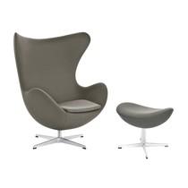 Fritz Hansen - Aktion Egg Chair/Das Ei Sessel + Fußhocker Stoff