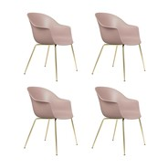 Gubi - Bat Dining Chair Gestell Messing 4er Set