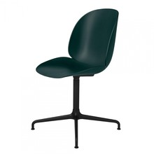 Gubi - Beetle Meeting Chair Gestell 4-Stern schwarz drehbar