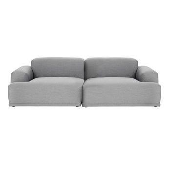 Muuto - Connect Lounge 2-Sitzer Sofa - grau/Stoff Steelcut Trio 133/234x92cm