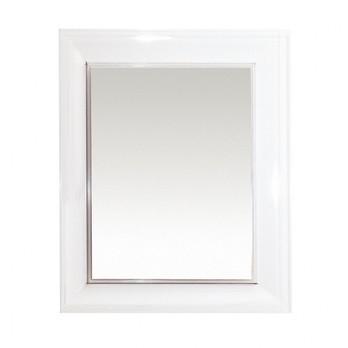 Kartell - Francois Ghost Spiegel - weiß/undurchsichtig/65 x 79 x 5,7cm
