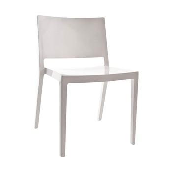 Kartell - Lizz Stuhl - weiß/lackiert glänzend