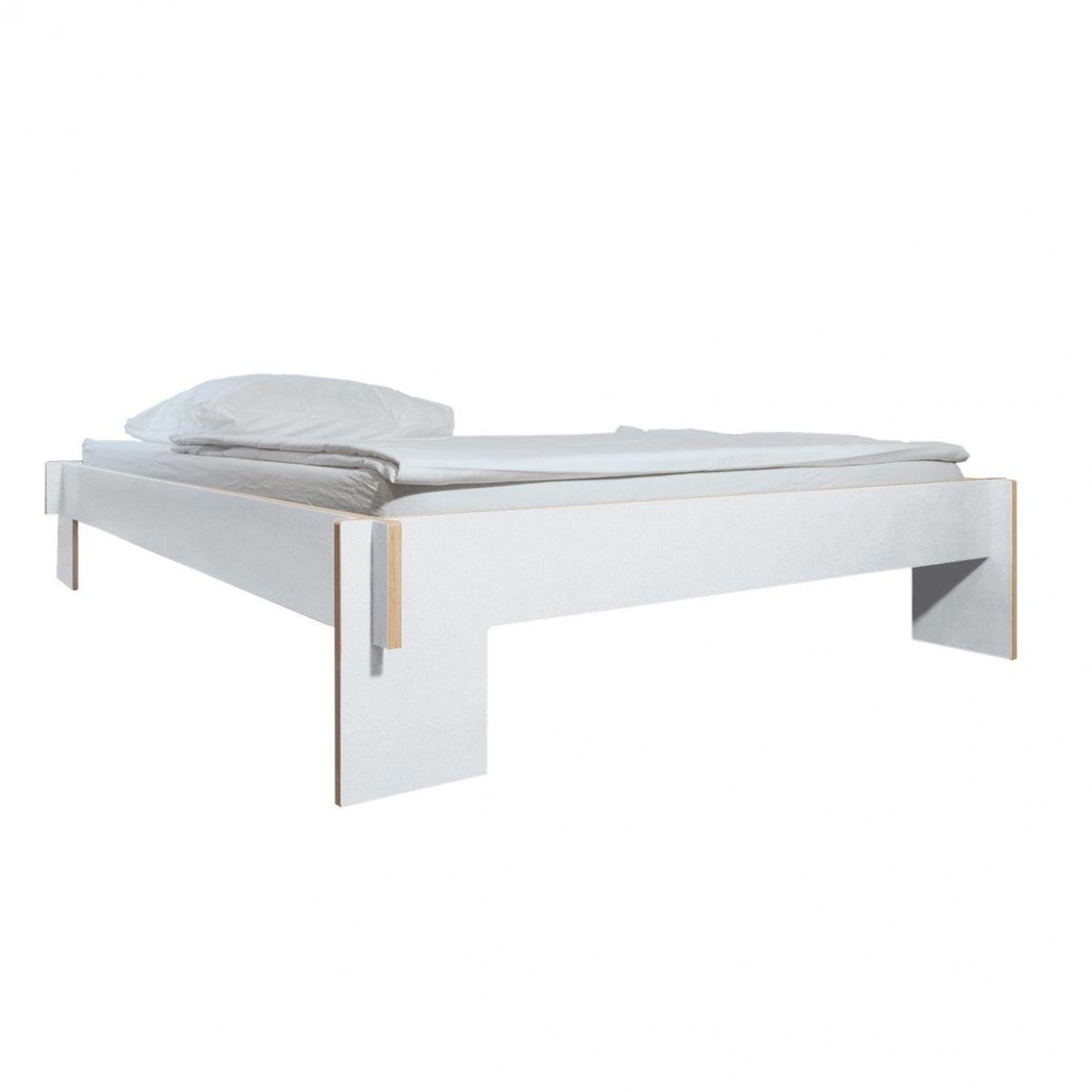 Bett Ohne Lattenrost Rucken : ... Siebenschläfer Bett - weiß/160x200cm/ohne Lattenrost und Matratze