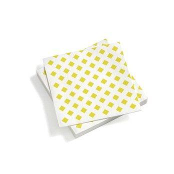 - Vitra Papierservietten - gelb/40x40cm
