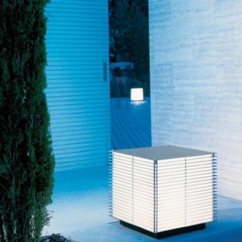Dojo borne d 39 ext rieur metalarte luminaires de sol for Luminaire exterieur sol