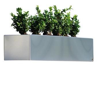 Radius - Radius Blumenkasten 80 - edelstahl/80cm