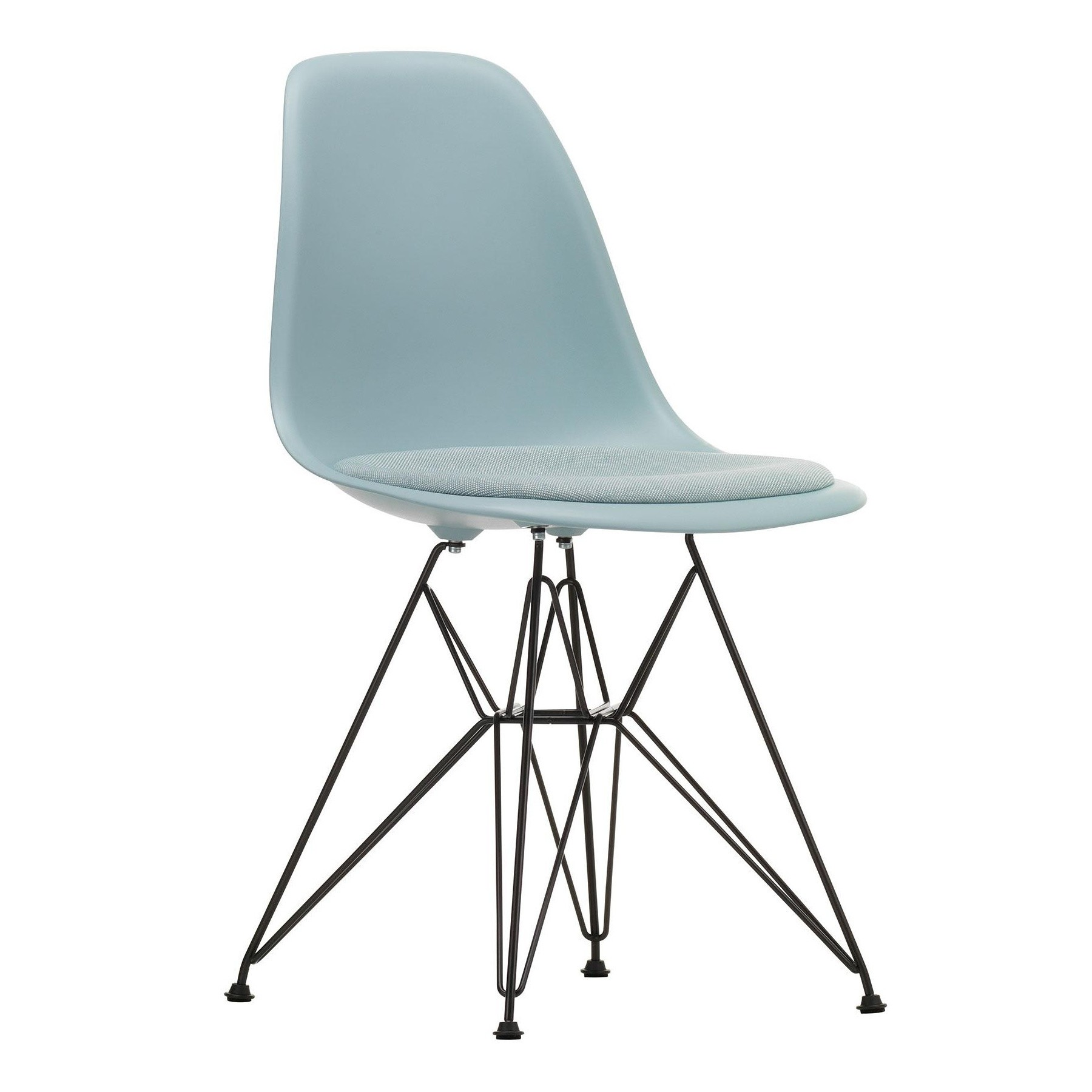 Eames Plastic Side Chair DSR gepolstert
