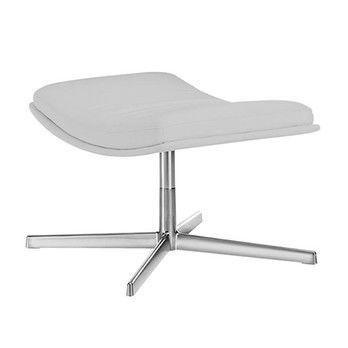Arper - Catifa 70 Soft 3302 Fußhocker - grau/Stoff Remix 123/Gestell Aluminium/Bezug abnehmbar