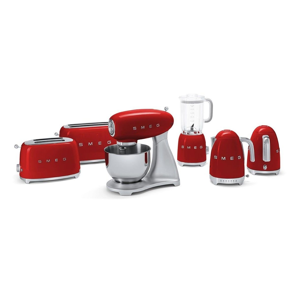 Red Retro Kitchen Accessories Smeg Klf01 Kettle 17l Smeg Ambientedirectcom