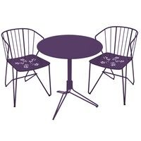 Fermob - 2 Flower Garden Chairs +1 Flower Garden Table