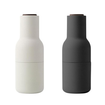 Menu - Bottle Grinder Mühle 2er Set Deckel Nussbaum