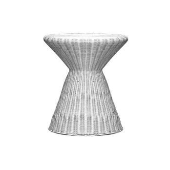 Gervasoni - Inout S Beistelltisch/Hocker - weiß/Kunststoffbespannung/H 45cm/Ø 40cm