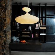 Kundalini - E.T.A. Sat Suspended lamp - white/fibreglass