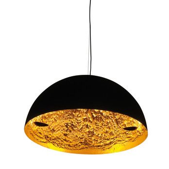 Catellani & Smith - Stchu-Moon 02 LED Pendelleuchte Ø80cm - gold/matt schwarz/2600-2800K/2000lm/CRI80/inkl. TRIAC Dimmer