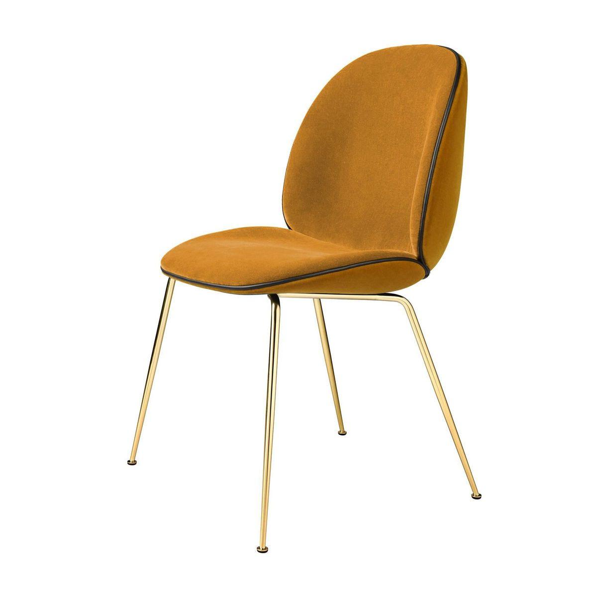 Beetle Chair Samtpolster Und Gestell Messing Gubi