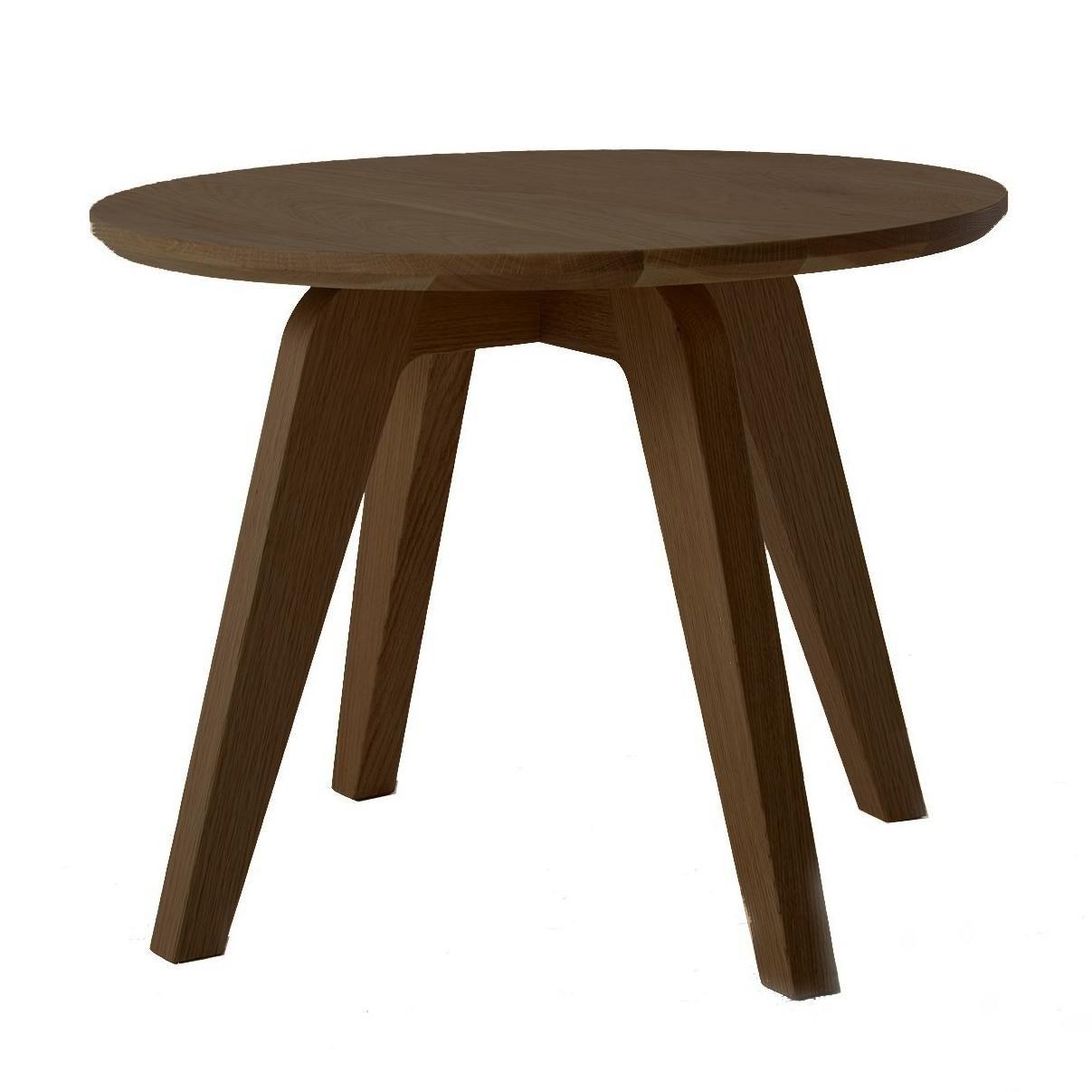 Jan Kurtz Dweller Solid Wood Side Table Oak Coffee 39x50cm