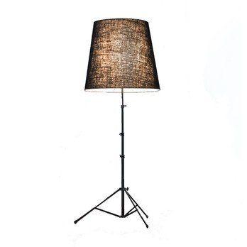 Pallucco - Gilda Black LED Stehleuchte - jute schwarz/matt/Gestell schwarz/2700K/1521lm/mit Dimmer