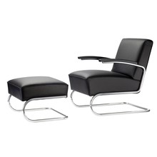 Thonet - S 411 Armchair With Ottoman Leather