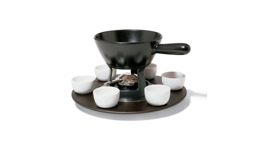 mami turning tray for fondue alessi. Black Bedroom Furniture Sets. Home Design Ideas