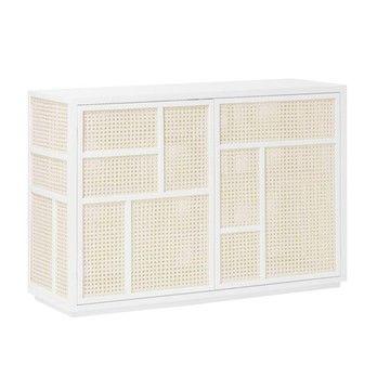 DesignHouseStockholm - Air Sideboard - weiß/Schilfrohr/120x80x40cm