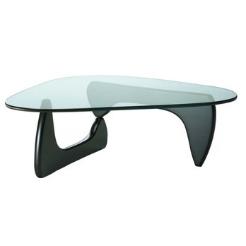 Vitra - Coffee Table Beistelltisch - schwarz/Glas/LxBxH 128x93x40cm