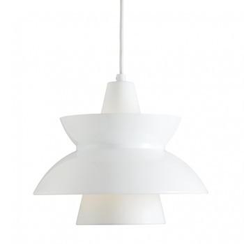 Louis Poulsen - Doo-Wop Pendelleuchte - weiß/innen pulverbeschichtet/Kabel weiß/H 24.5cm/Ø 28.3cm