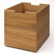 Skagerak - Cutter Box Groß mit Rollen - teak/30x34x36cm