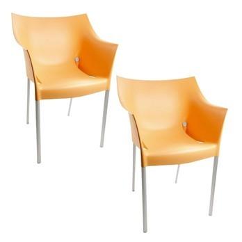 Kartell - Dr. No Stuhl Set - hellorange/Polypropylen/2 Stühle