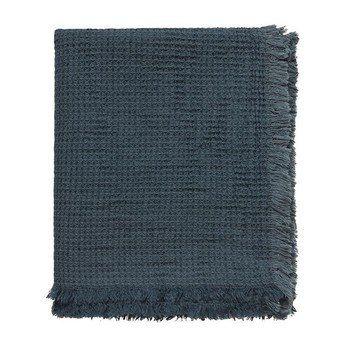 Linum - Kawai Überwurf/Tagesdecke 130x170cm - dunkel anthrazitgrau