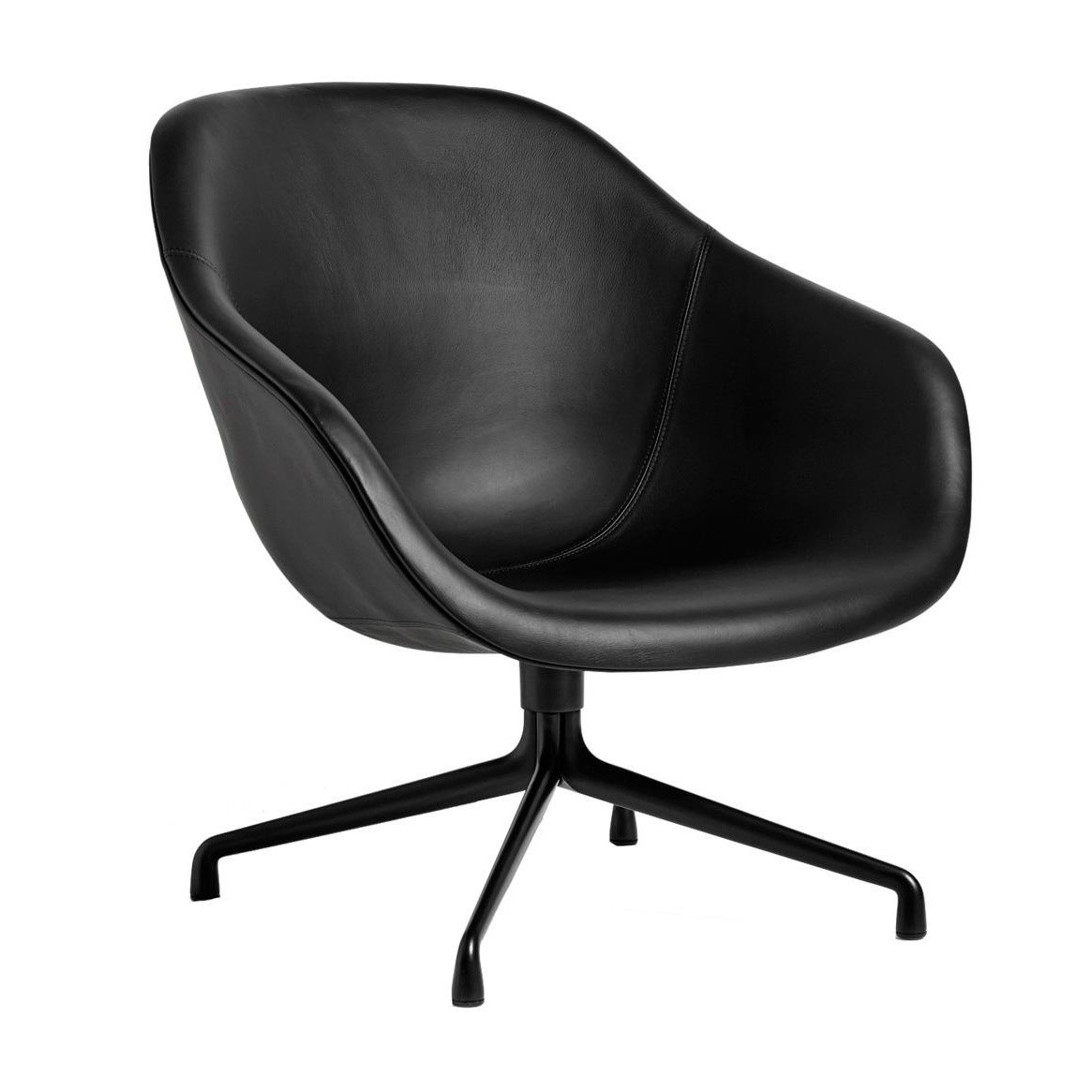 hay about a lounge chair aal81 leather chair ambientedirect. Black Bedroom Furniture Sets. Home Design Ideas