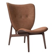 NORR 11 - Elephant Lounge Chair Leather Dark Stained Oak Base
